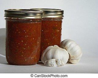 Salsa and Garlic - Canned Sals and Garlic