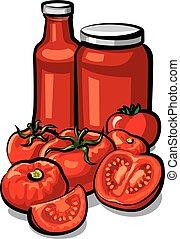 salsa de tomate, tomates