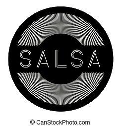 salsa, etiqueta, blanco
