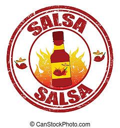 Salsa grunge rubber stamp