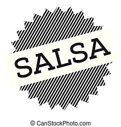 salsa, negro, estampilla