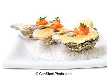 salsa, ostras