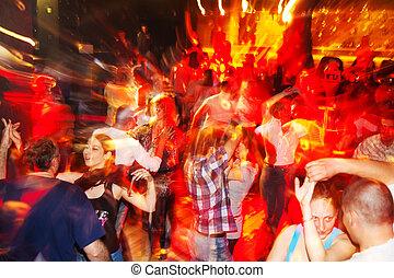 Sofia, Bulgaria - April 26, 2011: Social salsa dancing in a nightclub. A lot ot young couples enjoy the rythms of salsa, bachata, cha-cha-cha and merengue. [description:]Salsa is very popular dance in Bulgaria and a lot ot salsa parties are made every night.