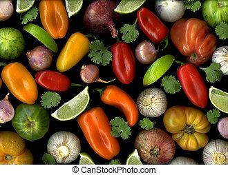 Salsa - Fresh organic salsa ingredients