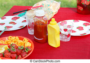 salsade tomate, mostaza