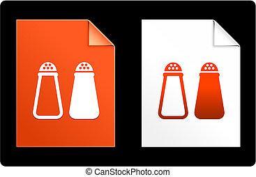 Salt and Papper on Paper Set Original Vector Illustration AI 8 Compatible File