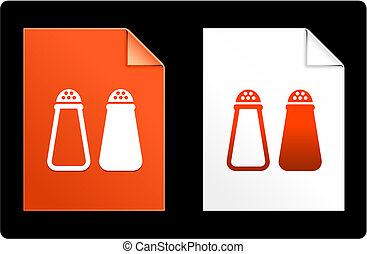 Salt and Papper on Paper Set Original Vector Illustration AI...