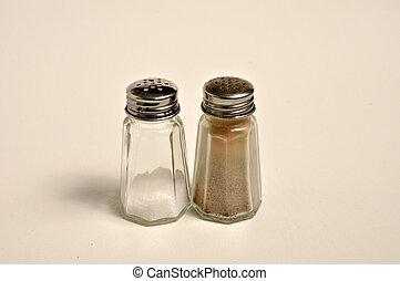 Salt and Pepper Shaker - A salt and pepper shaker side ...