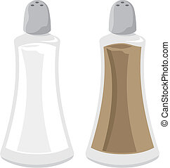 Salt and pepper vector - Salt and pepper shakers...