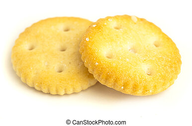 salt biscuits isolated on a white background