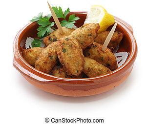 salt cod (bacalhau, bacalao) fritter - salt cod fritters, ...