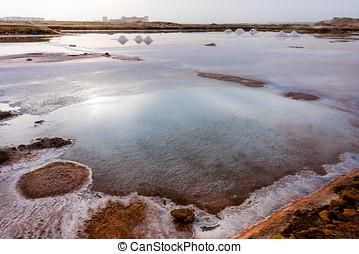 Salt crystallizationponds - Salt crystallization pits ponds...