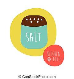 salt graphic design , vector illustration