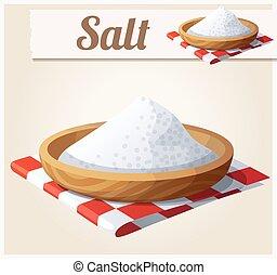 Salt. Detailed Vector Icon