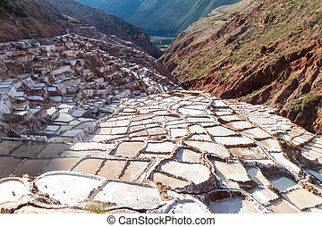 Salt extraction pans (Salinas) in Sacred Valley of Incas