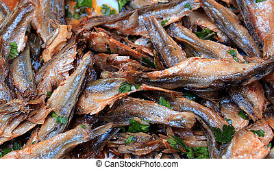 salt fish - salted and spiced dry fish called tzironka, ...