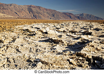 Salt Flats at Badwater Basin in Death Valley National Park, ...
