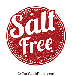 Salt free stamp - Salt free grunge rubber stamp on white...