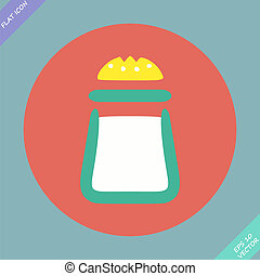 Salt icon - vector illustration