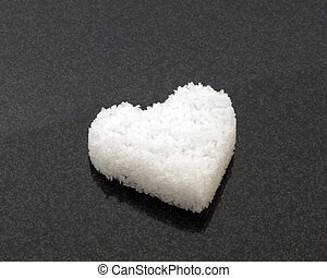 Salt  in a heart shape