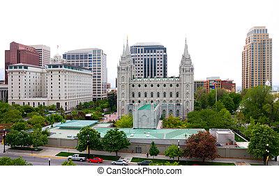Salt Lake City downtown, Utah
