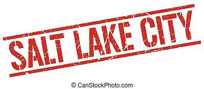 Salt Lake City red square stamp