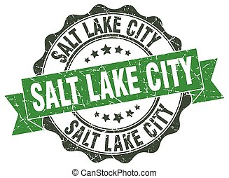 Salt Lake City round ribbon seal