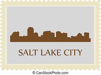 Salt Lake City stamp