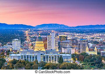 Salt Lake City, Utah, USA Downtown