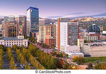 Salt Lake City, Utah, USA Financial District
