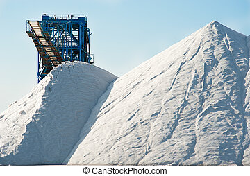 Salt mine - Industrial salt mine and machinery in Santa Pola...