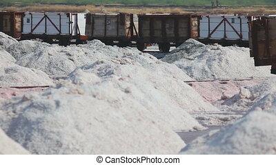 Salt mining in Sambhar - SAMBHAR, INDIA - NOVEMBER 19, 2012:...