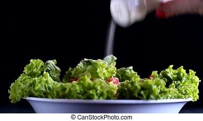 Salt on salad - Too much salt for a salad.
