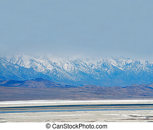Salt Pan, Death Valley National Park, California, USA - The...
