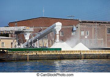 Salt Piles - Piles of fresh salt waiting for transportation...