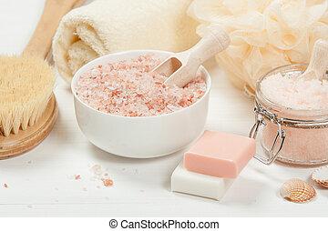 salt., schrob, perzik, toiletries, oil., met de hand gemaakt...