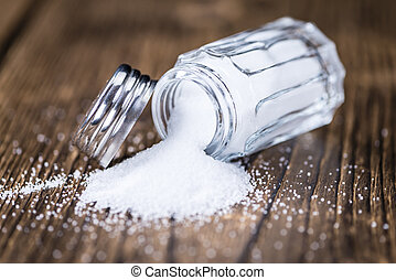 Salt Shaker (close-up shot) - Salt Shaker (close-up shot;...