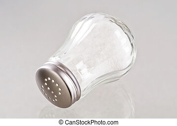 Salt shaker - Glass salt shaker with stainless steel top