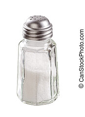 Salt shaker isolated on white