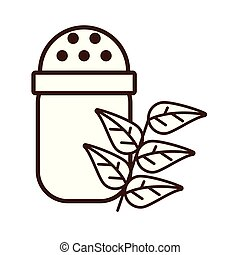 salt shaker utensil isolated icon vector illustration design
