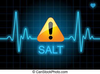 SALT - written on heart rate monitor
