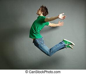 saltando alto
