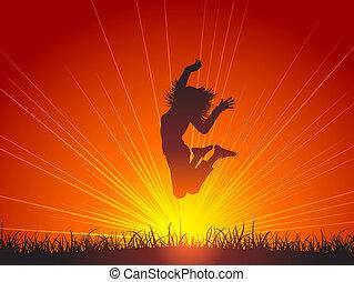 saltar alegria