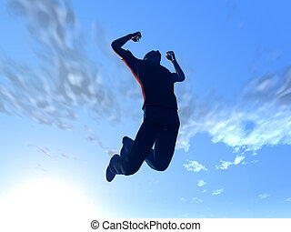 saltar, cielo