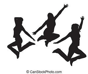 saltare, ragazze