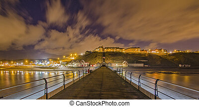Saltburn Pier at Night