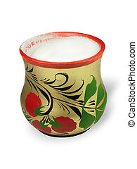 The saltcellar is isolated on a white background.