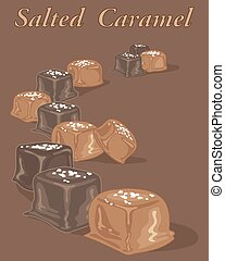 salted caramel candy - a vector illustration in eps 8 format...