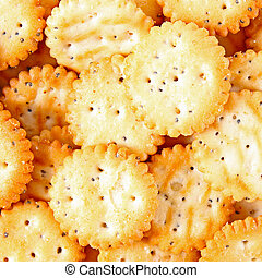 Salted cookies background