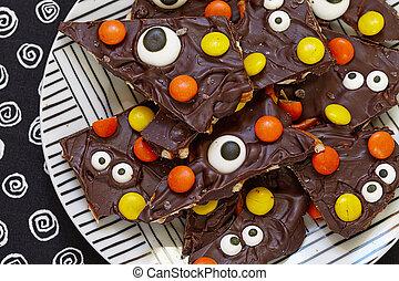 Salted Halloween Monster Bark - Salted Halloween Monster...